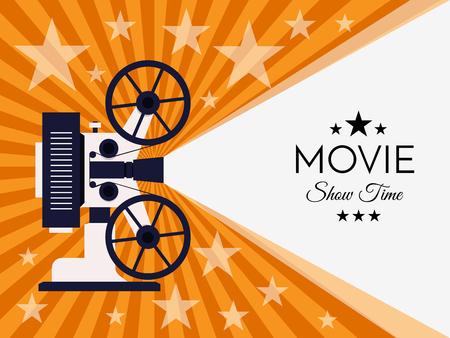 Cinema background or banner. Movie flyer ticket template