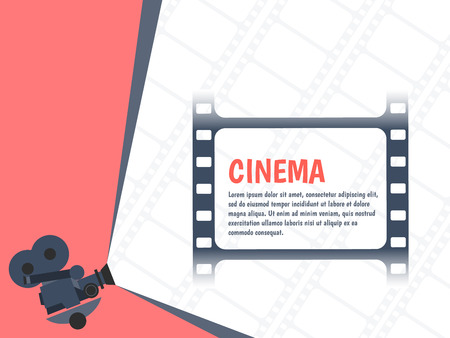 films: Cinema festival poster template for your design.