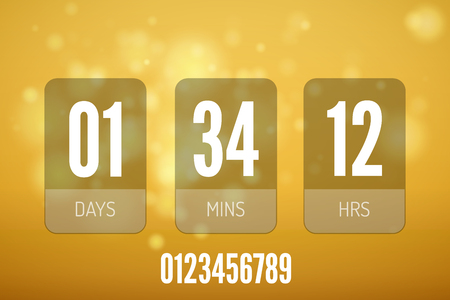 Transparent Glass Countdown timer isolated. Illustration