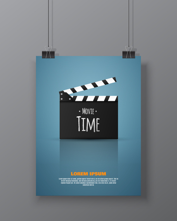 illustration industry: Cinema festival Flyer Or Poster. Vector Illustration Of Film Industry.