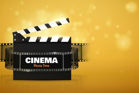 Affiche ou affiche de cinéma. Illustration vectorielle. Modèle de festival de film