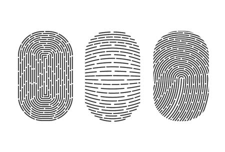 Fingerprints set. Vector Security system. Digital lock