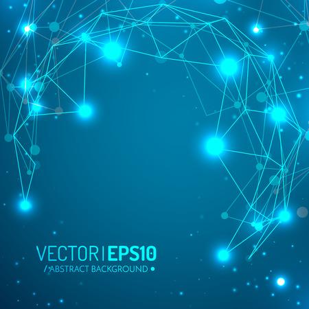 3D-geometrische vector achtergrond voor zakelijke of wetenschappelijke presentatie.