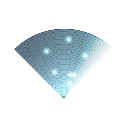 blip: Radar icon. Illustration on white background for design. Radar monitor