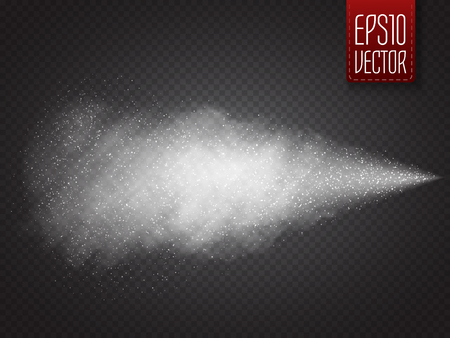Spray vector effect isolated on transparent background.