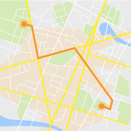 Gps navigation background. Road map, vector illustration Illustration