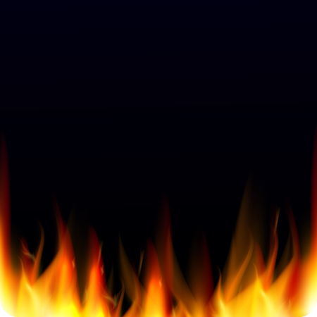 Abstract vector background with realistic fire flames effect. Hell background