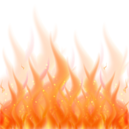 burning: Fire flame background. Vector illustration of burning fire isolated Illustration