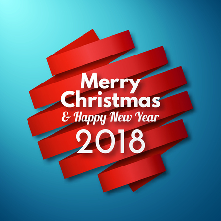 2018 vector template merry christmas and happy new year background stock vector 84136079
