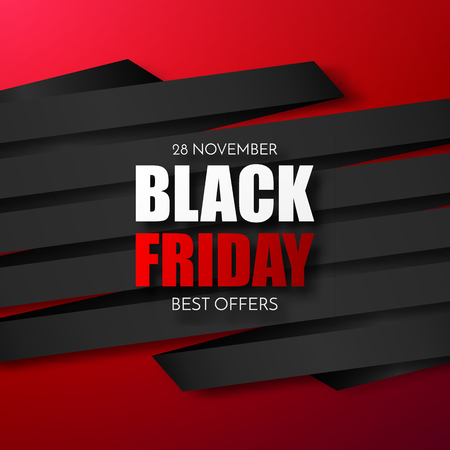 Black Friday Sale Abstract Background. Vector Banner.