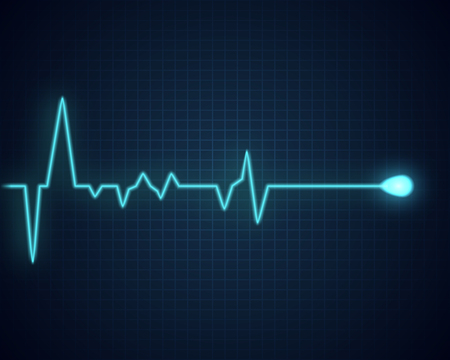 Pulse graphic. Medical background with heart cardiogram. Vector illustration.