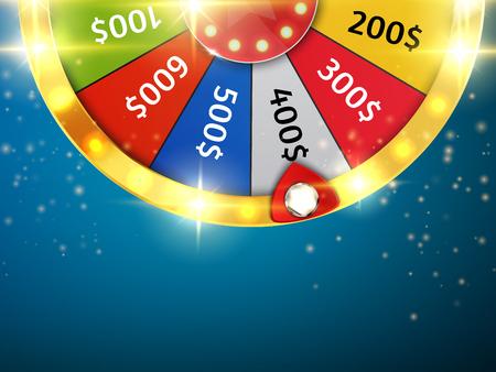 Kleurrijk wiel van geluk of fortuin infographic. Vector Vector Illustratie