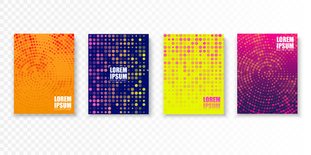 Colorful covers design in minimal style. Bright vector patterns