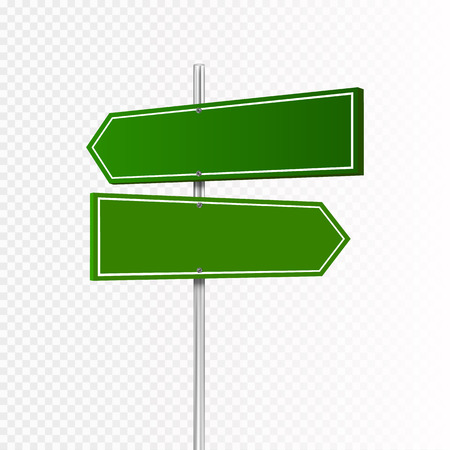 Road sign isolated on transparent background. Vector Stock Photo