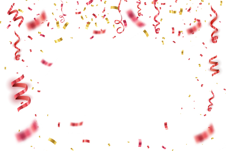 Abstract background with many falling tiny confetti pieces. vector background