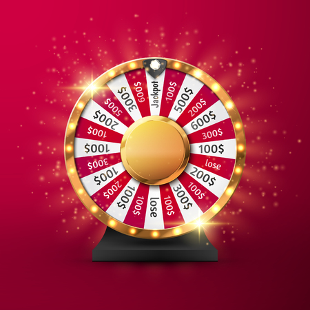 Fortune wheel vector background. Online casino concept. Lucky roulette vector illustration.