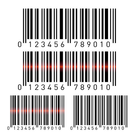 Set of bar codes isolated on white background. Vector