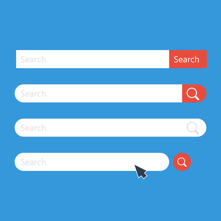 Search bar vector template for internet searching. Web-surfing interface