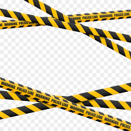 Caution lines isolated. Warning tapes. Danger signs. Vector illustration. Illustration