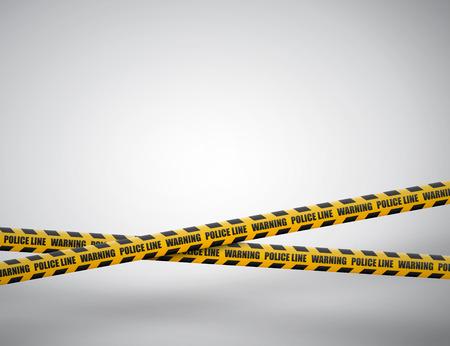Lignes de prudence isolées. Bandes d'avertissement. Signes de danger. Illustration vectorielle.