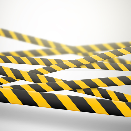 Caution lines isolated. Warning tapes. Danger signs. Vector illustration. Standard-Bild - 103079304