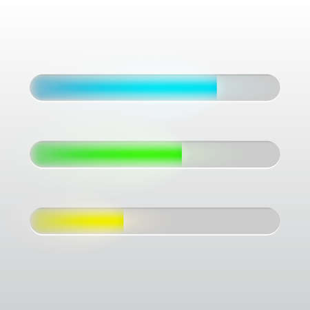 Vector progress loading bar for mobile apps or web preloader. Stock Illustratie