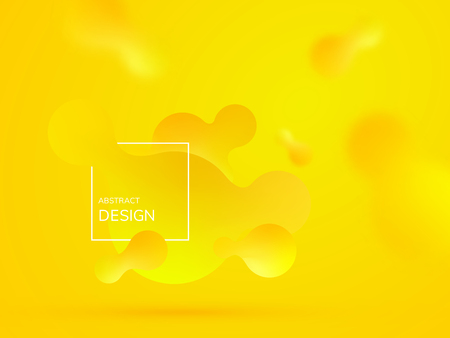 Liquid dynamic background for web sites, landing page or business presentation. Abstract geometric wallpaper. Header for social media. Trendy wavy shapes. Vector illustration.
