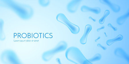 Zellenhintergrund. Biologie, Wissenschaftshintergrund mit Zellen. Vektor-Illustration Vektorgrafik
