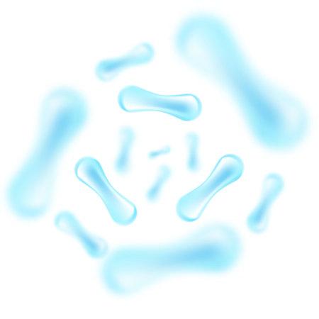 Zellenhintergrund. Biologie, Wissenschaftshintergrund mit Zellen. Vektor-Illustration