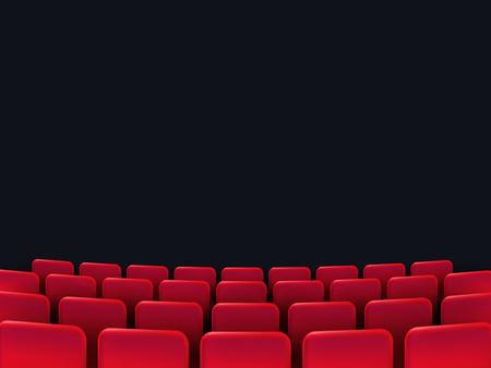 Cinema seats isolated on black background. Vector illustration.