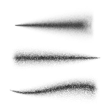 Spray effect. Dust with Scattered random black dots. Vector illustration Illustration