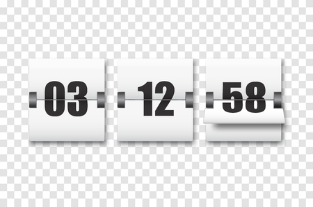 Countdown timer with numbers isolated. Clock counter. Vector template