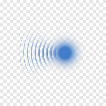 Sonar zoeken geluidsgolf. Vector radarpictogram