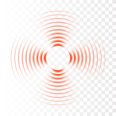 Sonar search sound wave. Vector radar icon