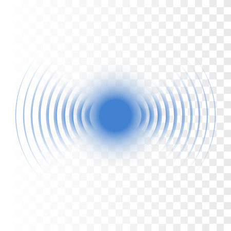 Onda sonora di ricerca sonar. Icona radar vettoriale