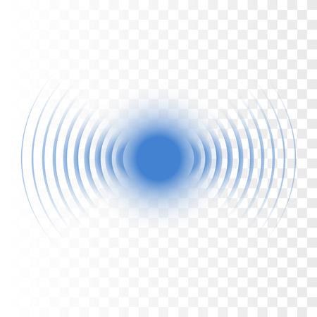 Onde sonore de recherche de sonar. Icône de radar de vecteur