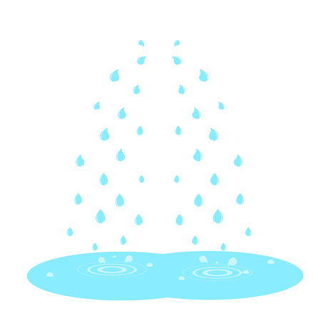 Cry and and drops of tears isolated on white. Vector illustration