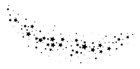 Magic stardust trail. Falling star. Vector illustration