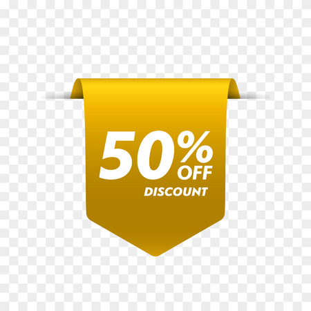 Offer tag. Discount label isolated. Vector illustration