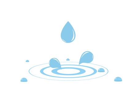 Water drop with water splash. Vector illustration 向量圖像