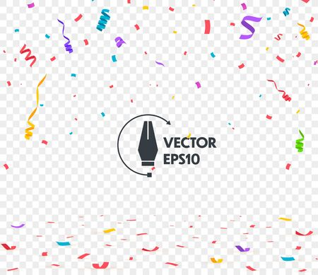 Colorful bright confetti isolated. Vector illustration Ilustracja