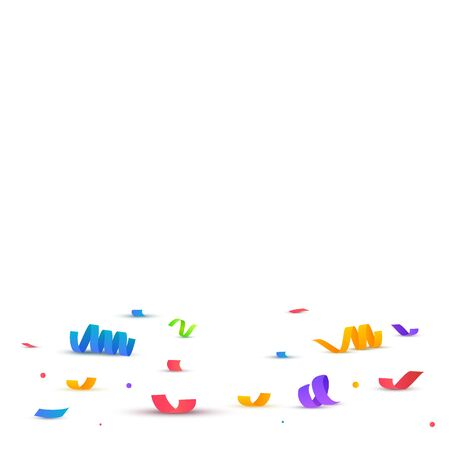 Colorful bright confetti isolated