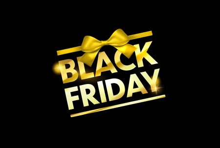 Black friday sale banner. Vector background for black friday sale week