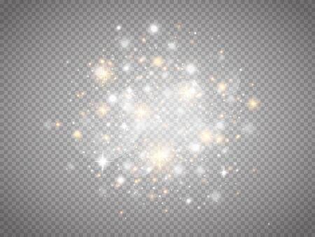 Glühender magischer Lichteffekt. Sternenstaub. Vektorglühende Funken. Vektorgrafik