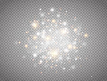 Gloed magisch lichteffect. Sterrenstof. Vector gloeiende schittert. Vector Illustratie