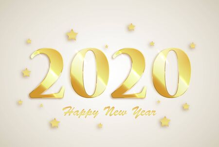 2020 Happy New Year greeting card. New Year banner. Vector background