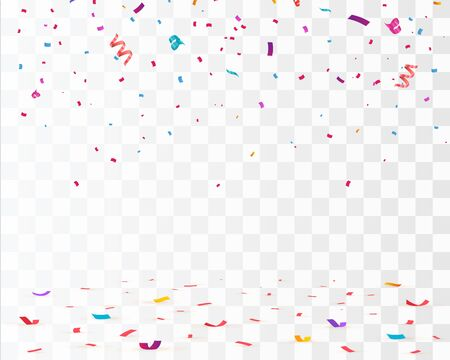 Confetti isolated. Falling confetti, birthday vector background