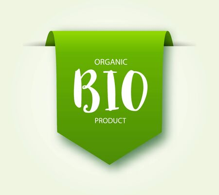 Eco organic product labels or tags. Vector Vegan green stickers or badges. Vegan food signs.