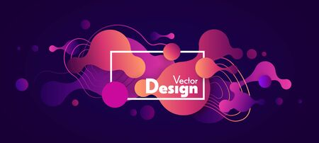 Abstract fluid vector shapes. Wavy forms background. Vector liquid gradient illustration. Trendy design banner.