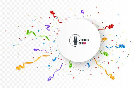 Color Confetti Isolated On White Background. Celebrate Vector Illustration